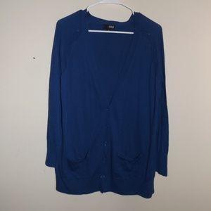a.n.a Blue Button Cardigan XL